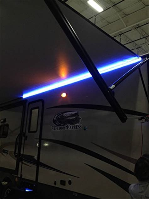 Rv Awning Led Lights by New Rv Cer Motorhome Travel Trailer 16 White Led Awning Light W Mounting Channel