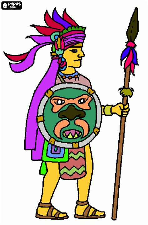 imagenes aztecas para imprimir guerrero azteca para colorear guerrero azteca para imprimir
