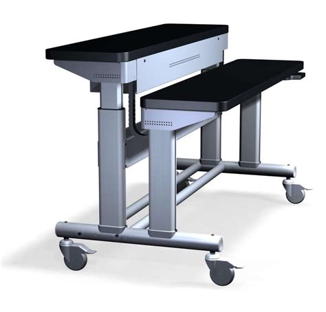 desk that raises and lowers anthro introduces elevate tm electric lift table