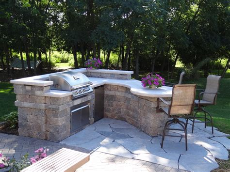 custom outdoor kitchen contemporary patio milwaukee