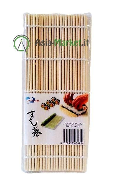 stuoia sushi stuoia di bamb 249 per sushi a cannette rotonde 1 00