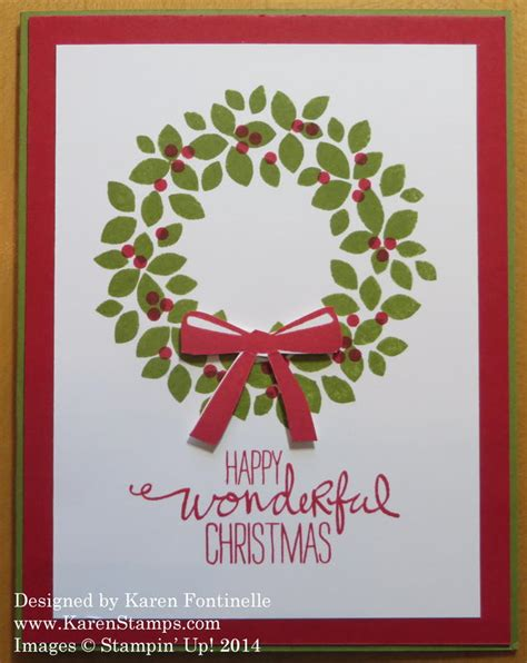 how to make a card wreath wondrous wreath easy card sting with