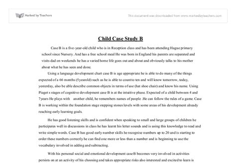 Child Study Essay by 5 Year Child Study Social Studies Marked By Teachers