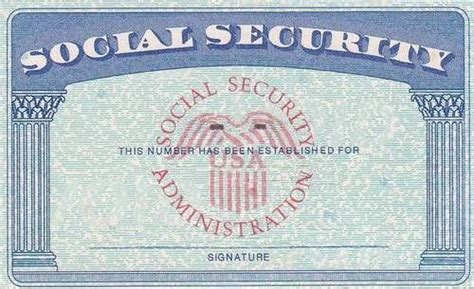 social security card template free social security card social security if still working