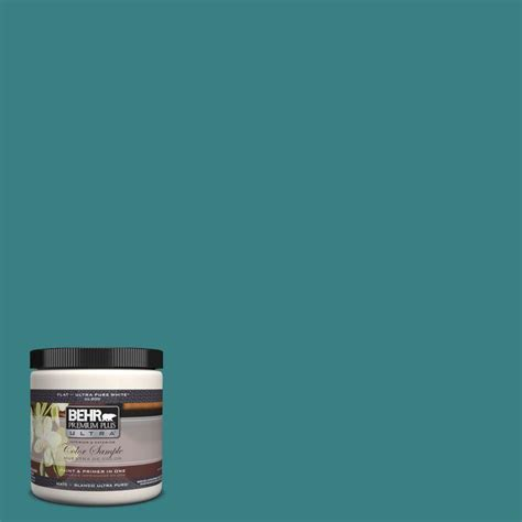 behr premium plus ultra 8 oz 510d 7 pacific sea teal interior exterior paint sle 510d 7u