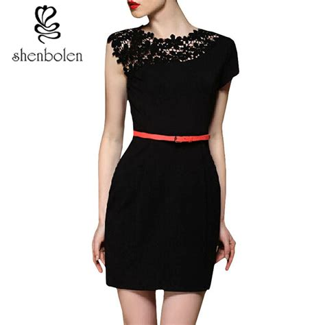 pattern for black lace dress shenbolen 2017 new latest latest one piece frock design