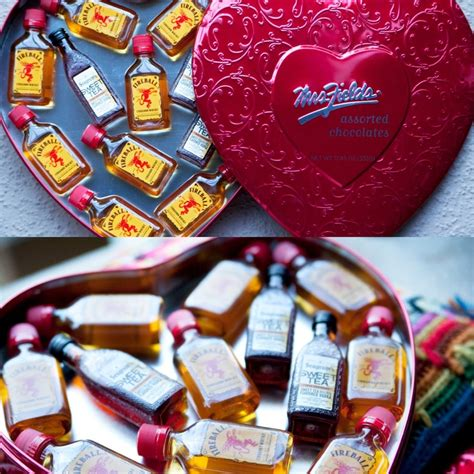 liquor valentines gifts fireball valentines gift removed chocolates and replaced