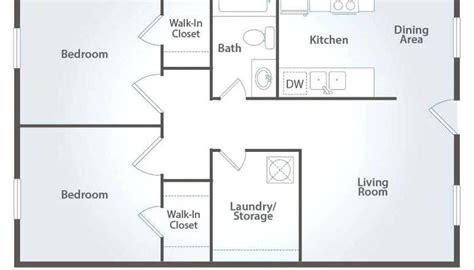 house plan 2 bedroom 1 bathroom medium size bath floor