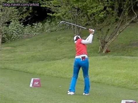 golf swing with irons 300fps seo hee kyung slow motion iron golf swing 3