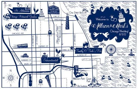 wedding invitations chicago il custom wedding map chicago il choose your city location to be invitations and colors