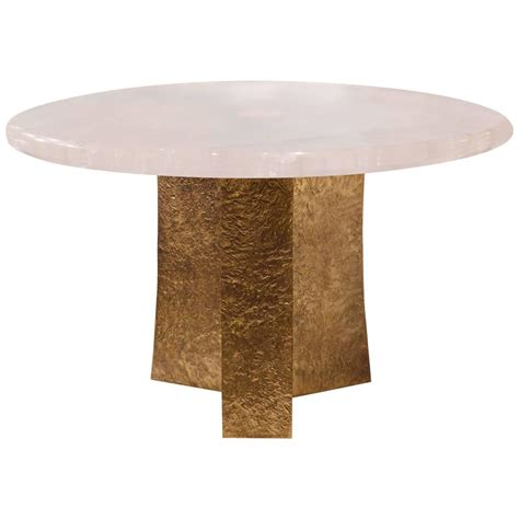 Quartz Table L Rock Quartz Cocktail Table For Sale At 1stdibs