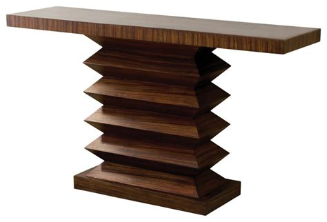Zig Zag Console Table Global Views Zig Zag Console Table Transitional Console Tables By Seldens Furniture