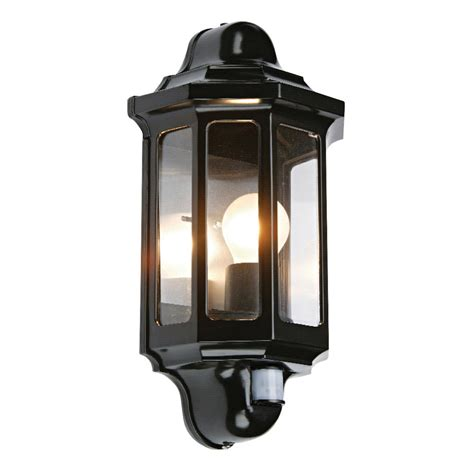 Outdoor Lighting With Pir Endon1818pir Traditional Pir Satin Black Exterior Wall Bracket