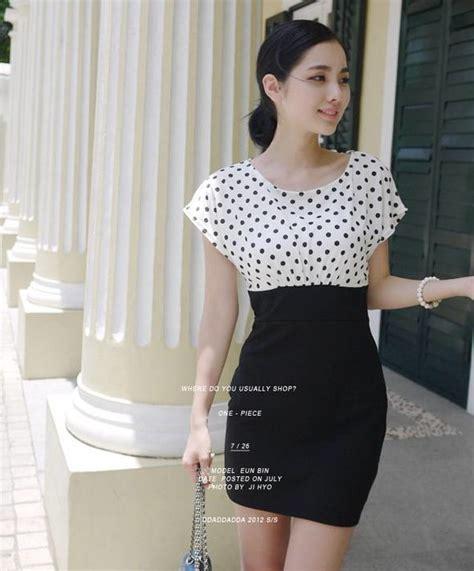 Model Baju Mini Dress Terkini Dan Murah Polkadot Katun Rayon mini dress polkadot terbaru model terbaru jual murah