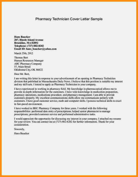 cover letter for a pharmacy assistant application letter for fresh graduate pharmacist resume
