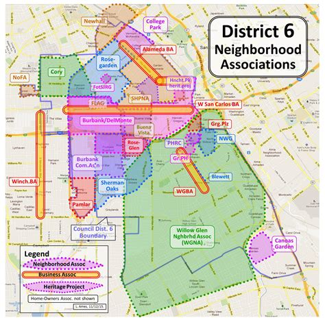san jose map of neighborhoods agendas informal notes and other neighborhoods