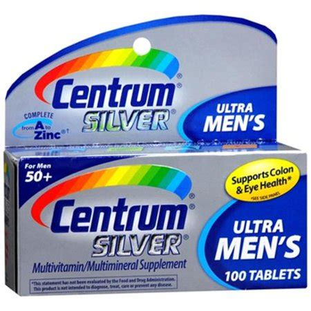 Centrum Silver 50 Supplier centrum silver s 50 tablets 100 tablets pack of 6