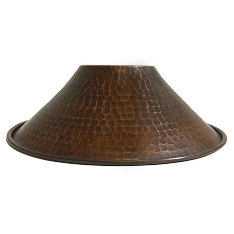 Hand Hammered Copper 9 Cone Pendant Light Shade Premier Hammered Copper Pendant Lights