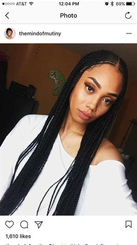 One Braid Black Hairstyles by 25 Best Ideas About Cornrow On Black Braids