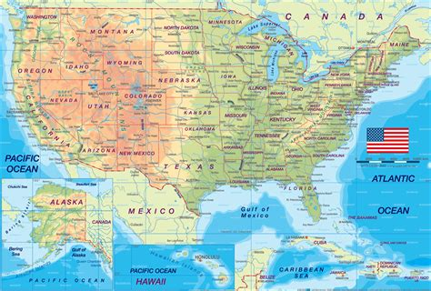 physical geography map of the united states