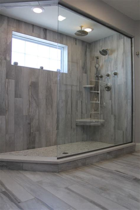 Falling Shower by Falling Water Porcelain Tile Collection Modern