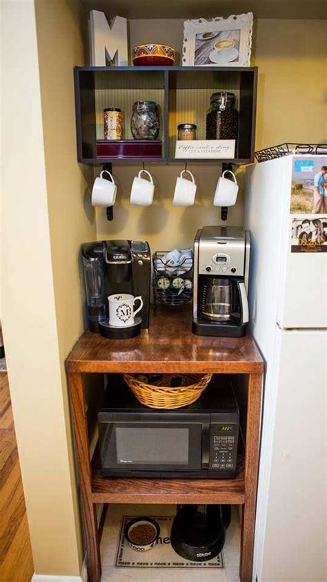 24 places to which you can build a home coffee station
