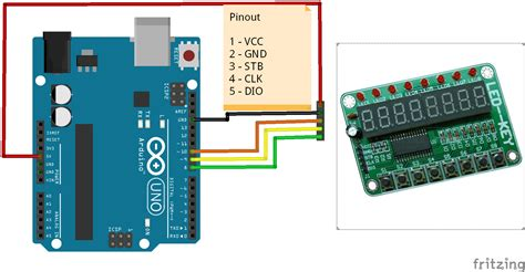 arduino code library arduino and a tm1638 module arduino learning