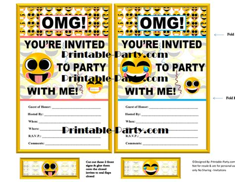 printable emoji birthday invitations emoji printable birthday supplies emoticon smiley