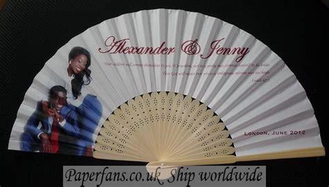 custom printed fans for weddings custom printed paper wedding fans 0 74