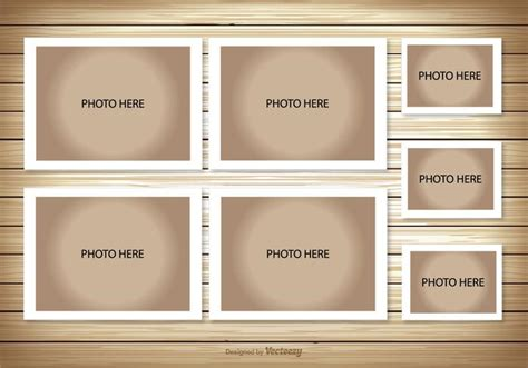photo frame wall collage template photo collage template free vector stock