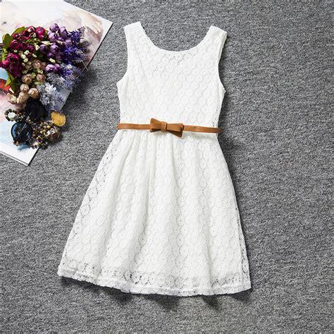 Dress New Kombinasi aliexpress buy dress 2017 new summer style lace vest baby dresses with belt
