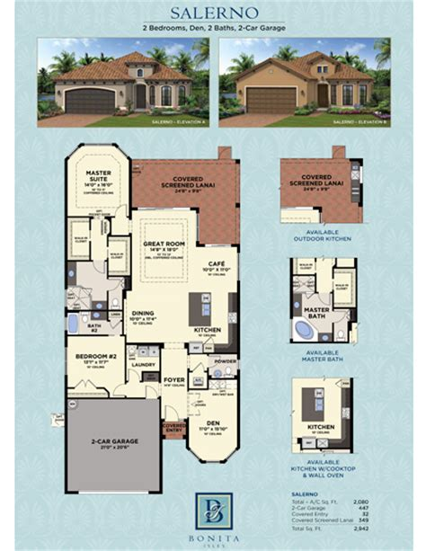 Minto Homes Floor Plans by Salerno Floor Plan Bonita Isles In Bonita Springs Fl