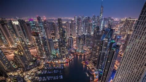 imagenes 4k ciudades la ciudad de noche dubai rascacielos fondos de pantalla