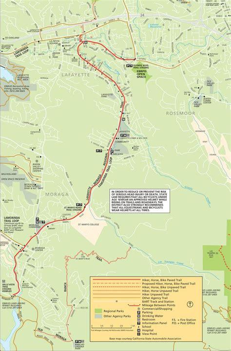 moraga california map lafayette moraga regional trail map hiking