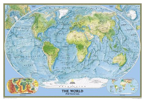 map geo national geographic united states world physical map combo set