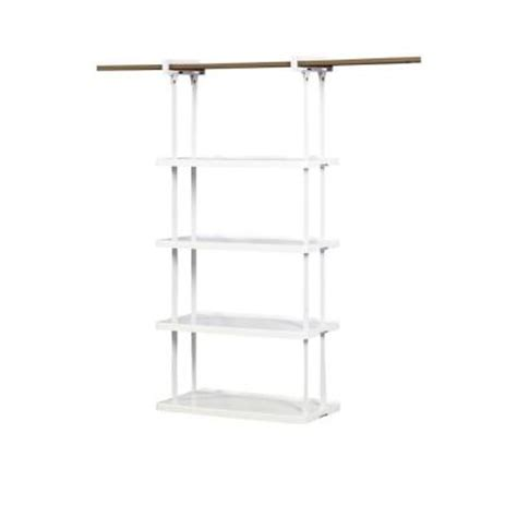 rubbermaid 4 shelf closet helper hanging unit 1806115