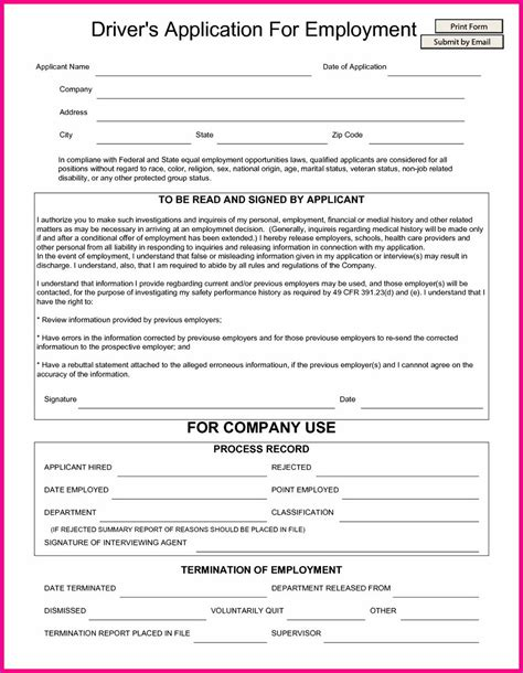 free truck driver application template truck driver application template mbm