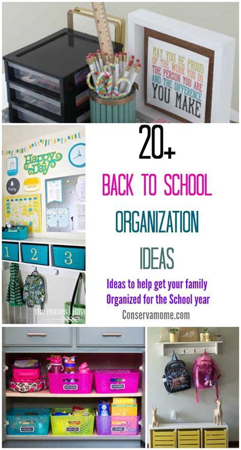 conservamom    school organization ideas ideas     family organized