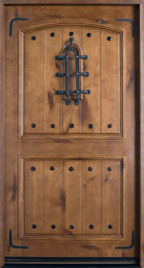 Rustic Doors by Front Door Custom Single Solid Wood With Knotty