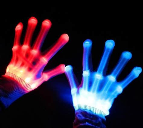 finger lighting gloves buy wholesale colorful led gloves light finger