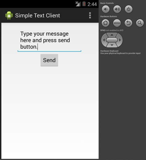 reset button android java simple android client server application investment