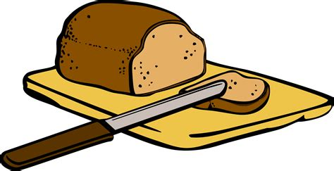 clipart pane clipart bread with knife on cutting board