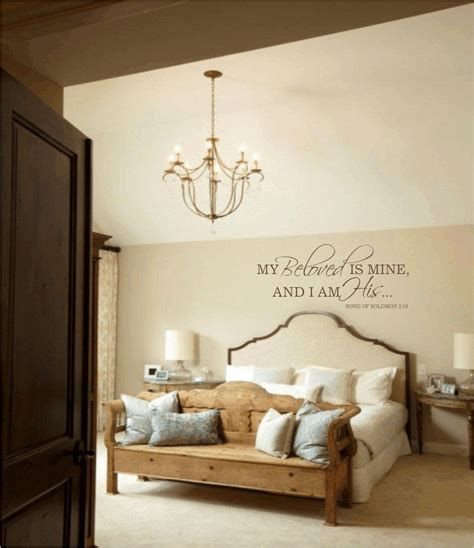 Wall Transfers Bedroom by Master Bedroom Wall Decal My Beloved Is Mine And I Am His