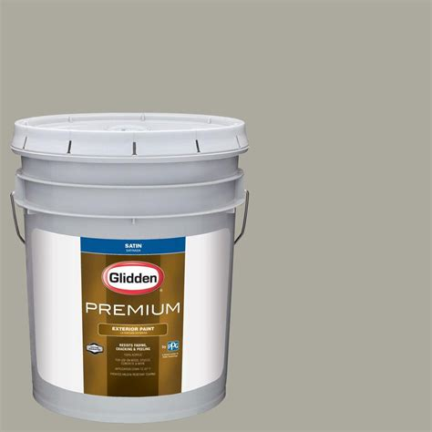 glidden premium 5 gal hdgcn01d skipping grey satin exterior paint hdgcn01dpx 05sa
