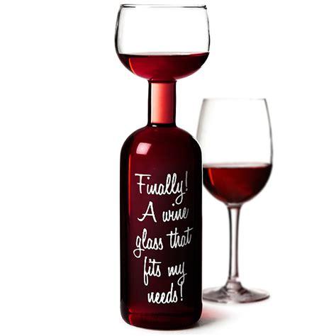 Cylinder Wine Glass Wine Bottle Glass 750ml Novelty Wine Glass Holds 1