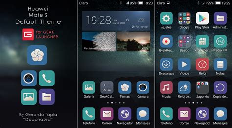 themes for android huawei huawei mate s default theme for geak launcher by duophased