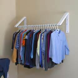 Hanging Clothes Storage quikcloset clothes storage solution in closet rods and