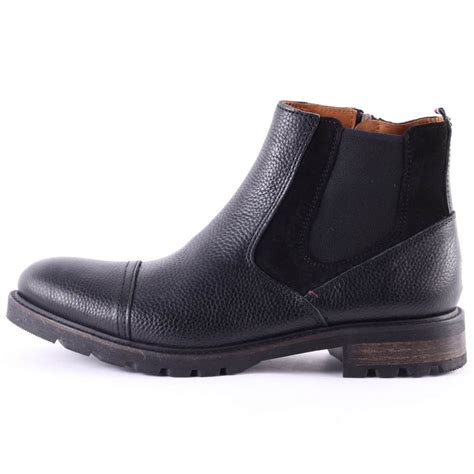 mens hilfiger boots hilfiger curtis 11a mens chelsea boots in black