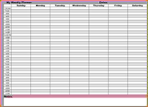 template time planner template weekly with free printable calendar