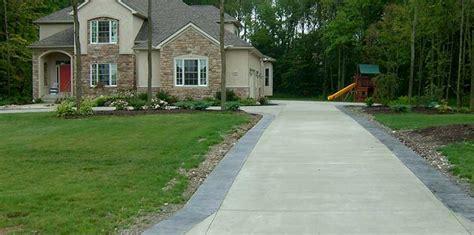 Economical Homes Stamped Concrete Driveway Decorative Concrete Driveways